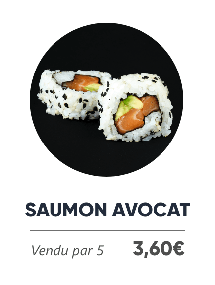 Saumon Avocat - Japan Burger